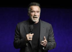 In this Thursday, April 4, 2019 file photo, Arnold Schwarzenegger.
