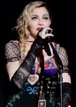 Madonna performs during her Rebel Heart Tour 2015 in Stockholm