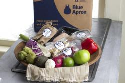 A home delivered meal from Blue Apron.
