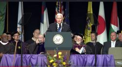 Mike Pence delivers Taylor University commencement address Saturday, May 18.