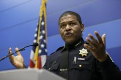 San Francisco Police Chief William Scott answers questions during a news conference, Tuesday, May 21, 2019, in San Francisco