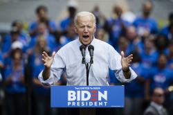 Democratic presidential candidate, former Vice President Joe Biden