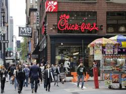 A Chick-Fil-A restaurant in New York City