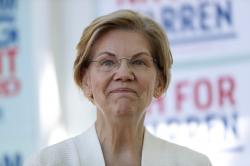 Democratic presidential candidate Sen. Elizabeth Warren, D-Mass