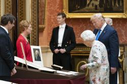 Trump meets the Queen on the first day of his four day UK state visit