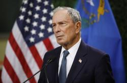 In this Feb. 26, 2019, file photo, former New York City Mayor Michael Bloomberg speaks at a news conference at a gun control advocacy event in Las Vegas