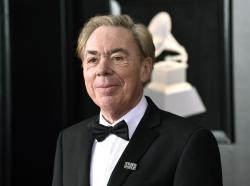 Andrew Lloyd Webber arrives at the 60th annual Grammy Awards at Madison Square Garden in New York.