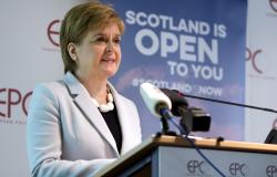Scotland's First Minister Nicola Sturgeon speaks during an event in Brussels Tuesday, June 11, 2019