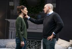 "Annie Parisse and Kelly AuCoin in ""Long Lost."""