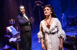 "Derrick Davis and Eva Tavares in ""The Phantom of the Opera"""