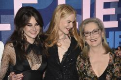 "Shailene Woodley, from left, Nicole Kidman and Meryl Streep attend the premiere of HBO's ""Big Little Lies"" season two at Jazz at Lincoln Center in New York."