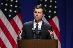 2020 Democratic presidential candidate South Bend Mayor Pete Buttigieg