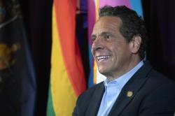 New York Gov. Andrew Cuomo speaks at the Lesbian, Gay, Bisexual & Transgender Community Center.