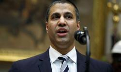 In this April 12, 2019 file photo, Federal Communications Commission Chairman Ajit Pai speaks during an event in Washington