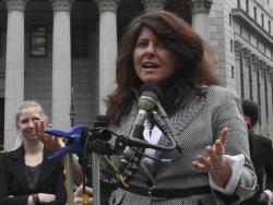 In this March 29, 2012 file photo author and political consultant Naomi Wolf speaks to reporters during a news conference in New York