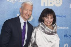 CNN anchor Anderson Cooper and Gloria Vanderbilt