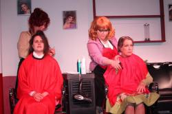 """Camille Terilli and Sarah Quintiliani (front left); Elizabeth Souin and Kathleen Russell (front right) in """"Steel Magnolias"""" at the Artic Playhouse through June 30."""