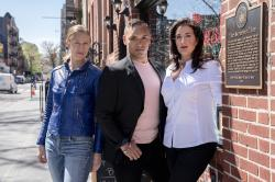 """Singers from the opera """"Stonewall"""" Liz Bouk, from left, Jordan Weatherston Pitts and Lisa Chavez."""