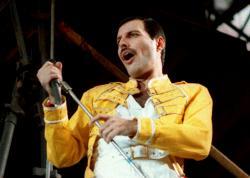 Queen lead singer Freddie Mercury performs, in Germany in 1986.