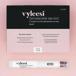 This image provided by Amag Pharmaceuticals in June 2019 shows packaging for their drug Vyleesi