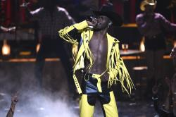 "Lil Nas X performs ""Old Town Road"" at the BET Awards."