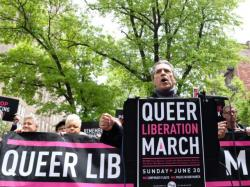 Members of the Queer Liberation March