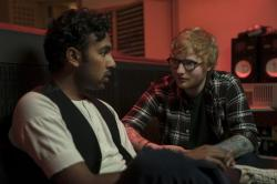 "Himesh Patel, left, and Ed Sheeran in a scene from ""Yesterday."""