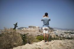 Hot Weather in Athens Shuts Down Acropolis