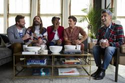 "From left to right: Bobby Berk, Johnathan Van Ness, Karamo Brown, Antoni Porowski and Tan France of ""Queer Eye."""