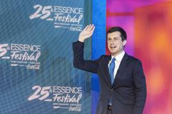Democratic presidential candidate and South Bend, Ind. Mayor Pete Buttigieg speaks at the 2019 Essence Festival at the Ernest N. Morial Convention Center.