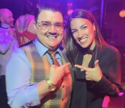 Drag performer Murray Hill and freshman congresswoman Alexandria Ocasoi-Cortez at the Bartschland Follies in NYC