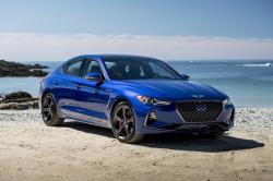 This undated photo provided by Hyundai shows the 2019 Genesis G70, a small, sporty sedan from Hyundai's upstart luxury brand
