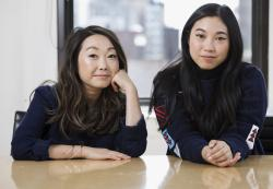 Filmmaker Lulu Wang, left, and actress Awkwafina