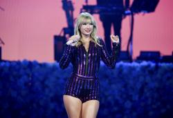 Taylor Swift performs at Amazon Music's Prime Day concert in New York City.