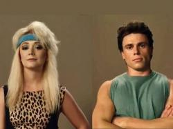 "Billie Lourd, left, and Gus Kenworthy for ""American Horror Story: 1984."""
