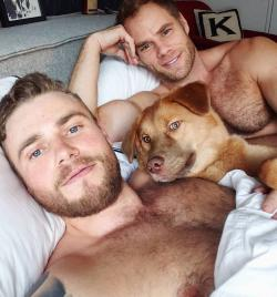 Gus Kenworthy, left, with Matt Wilkas, right.