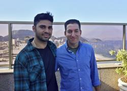Glenn Greenwald (right) and his husband David Miranda