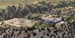 Jeffrey Epstein's Zorro Ranch in Stanley, N.M. is shown Monday, July 8, 2019. Epstein