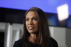 In this Wednesday, April 26, 2017 file photo, Entrepreneur Gina Miller answers a journalist's question at the Institute of Contemporary Arts in London