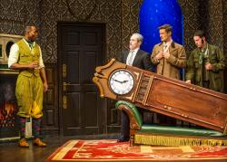 "A scene from ""The Play That Goes Wrong"" that runs through August 11 at the Ahmason Theatre in Los Angeles"