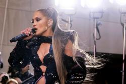 """Jennifer Lopez performs on NBC's """"Today"""" show at Rockefeller Plaza in New York."""