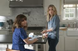 "Linda Cardellini, left, and Christina Applegate in a scene from ""Dead To Me."""