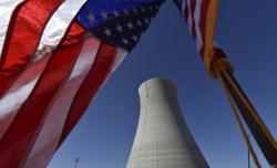 In this March 22, 2019 file photo, the construction site of Vogtle Units 4 at the Alvin W. Vogtle Electric Generating Plant is seen, Friday, March 22, 2019 in Waynesboro, Ga.