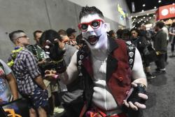 """Mike Brown, of New York, dressed as """"Harvey Quinn,"""" his own gender-bending spin on the """"Harley Quinn"""" character from the 2016 film """"Suicide Squad."""""""