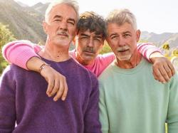 The Jonas Brothers using the FaceApp aging filter.
