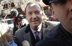 Kevin Spacey arrives at district court in Nantucket, Mass.
