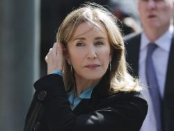 In this April 3, 2019 file photo, actress Felicity Huffman