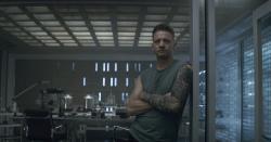 Hawkeye/Clint Barton (Jeremy Renner) in a scene from Marvel Studios' Avengers: Endgame.