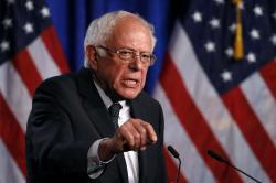Democratic presidential candidate, Sen. Bernie Sanders, I-Vt.