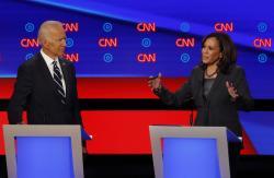 Former Vice President Joe Biden, Sen. Kamala Harris, D-Calif.